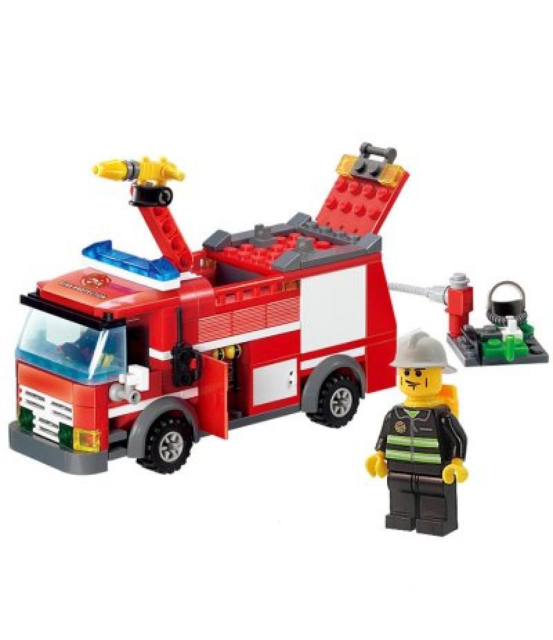 206pcs ABS Building Block Fire Engine Model DIY