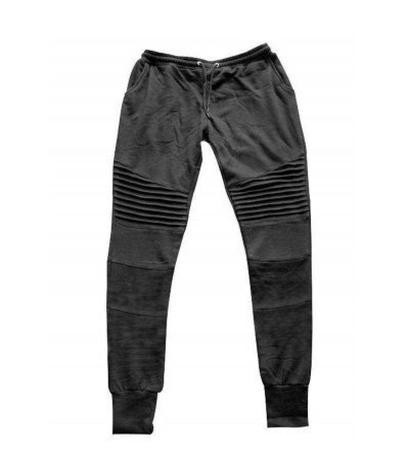 Pleats Design Beam Feet Cotton Jogger Pants