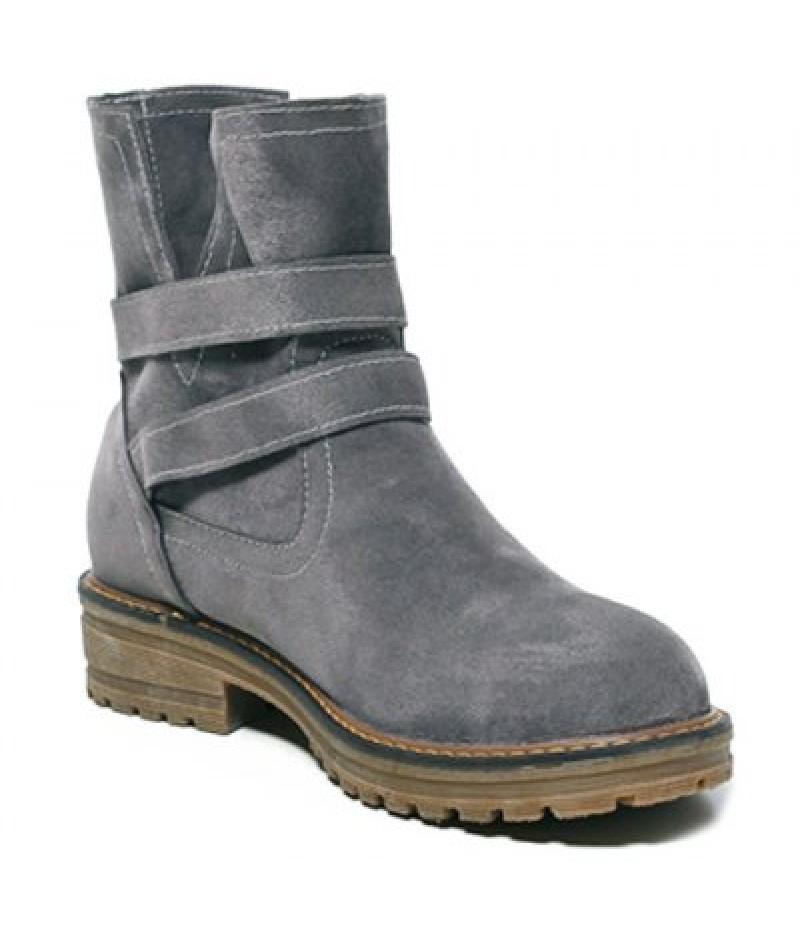 Flat Heel Dark Colour Short Boots