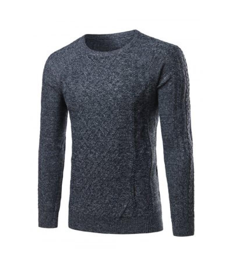 Heathered Geometric Pattern Raglan Sleeve Sweater