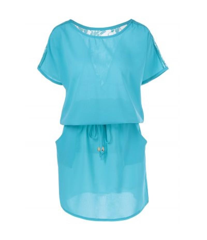 Back Lace Splicing Plus Size Club Dress