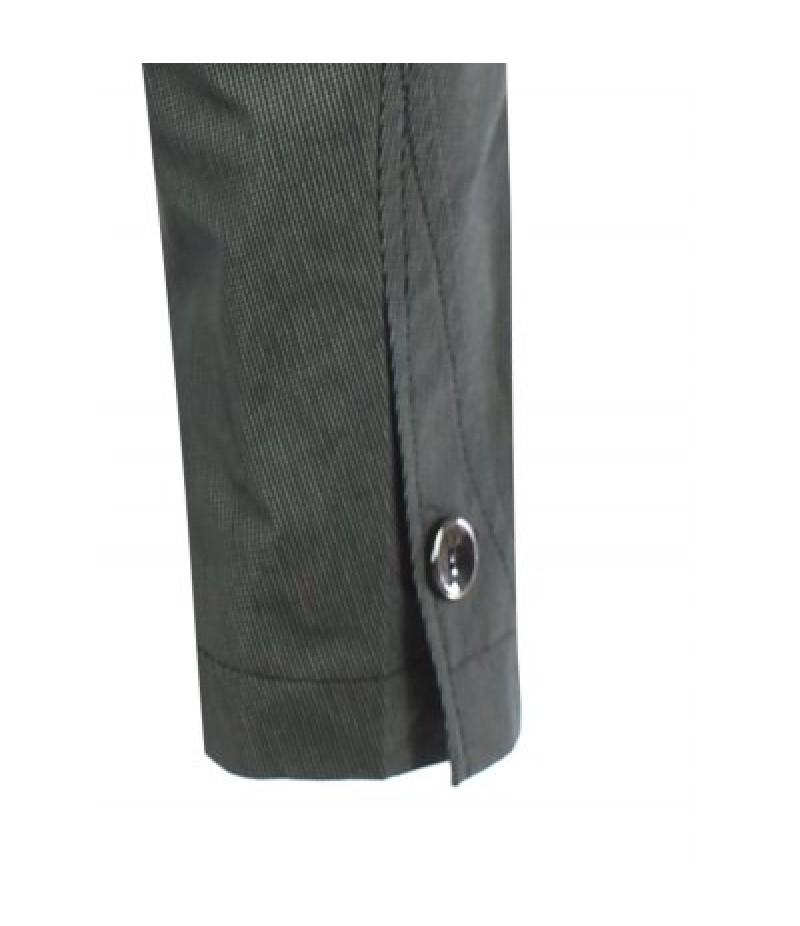 Zip Pocket Buttonhole Notch Lapel Texture Blazer