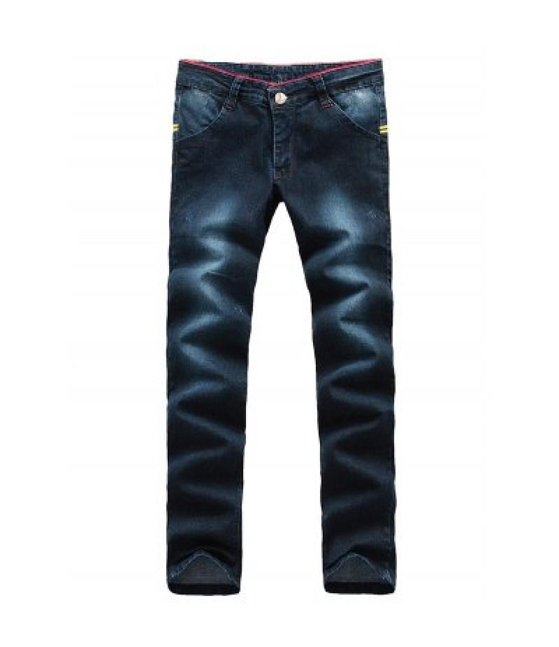 Arrow Pattern Patch Zip Fly Jeans