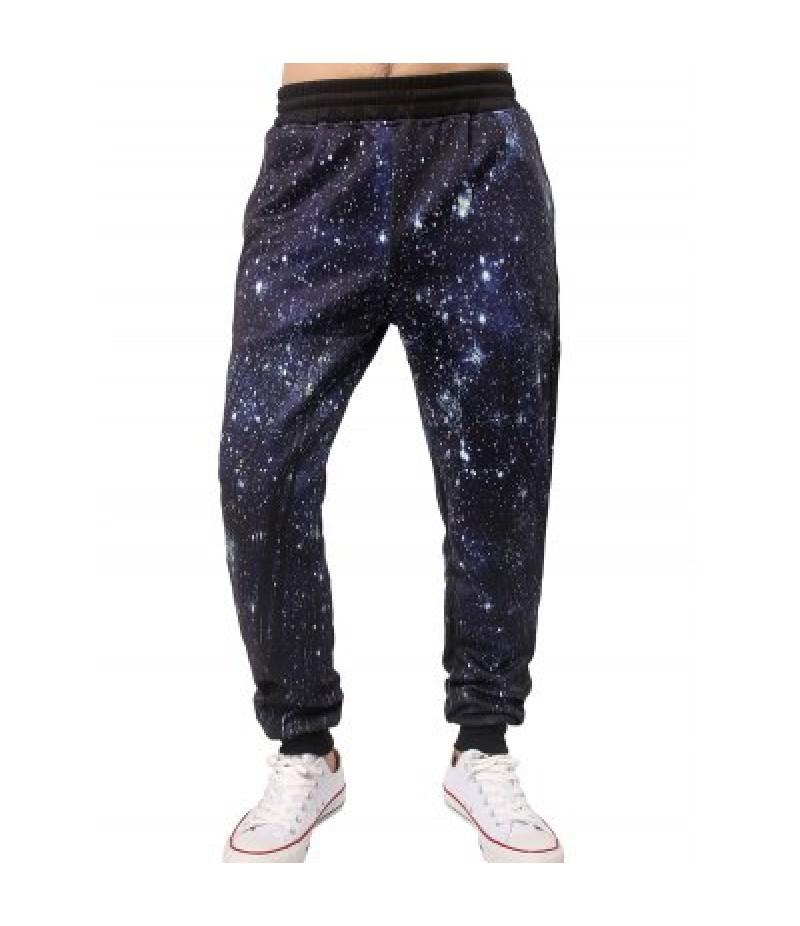 3D Starry Sky Print Jogger Pants