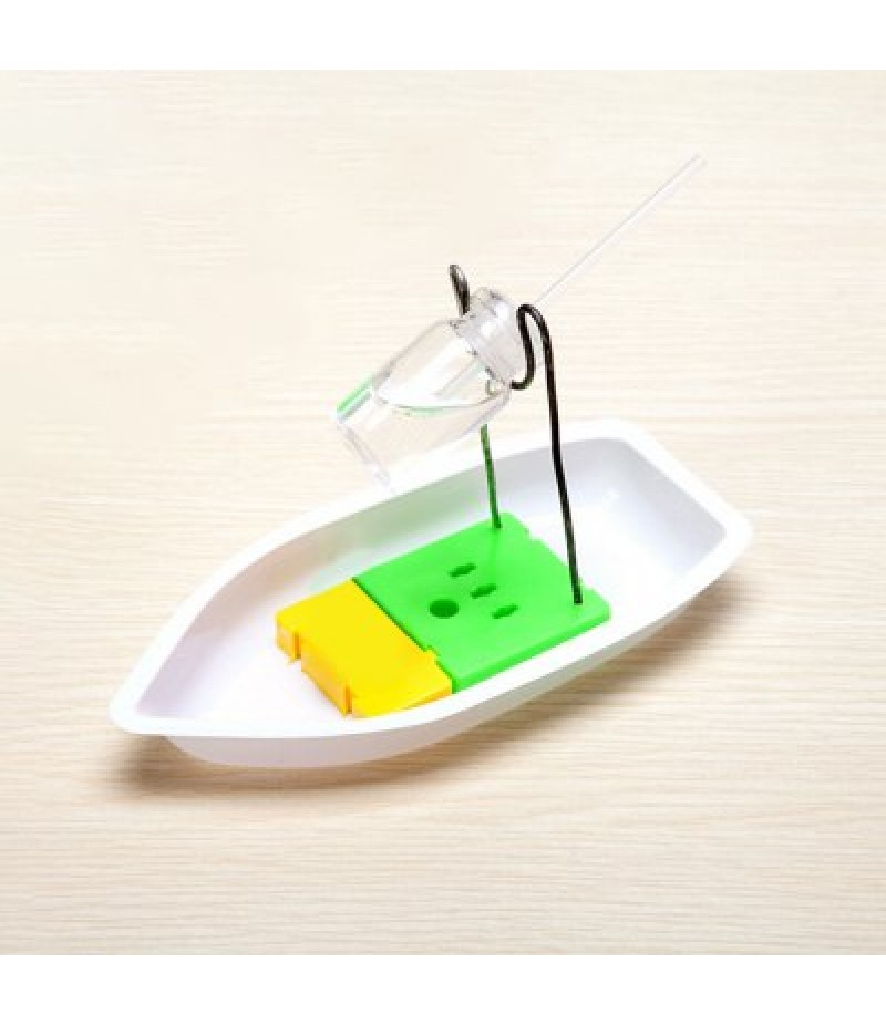 DIY Assembly Handcraft Antique Boat Candle Powered Toy