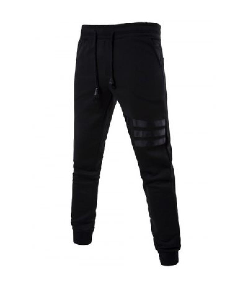 Mid Rise Drawstring Striped Jogger Pants