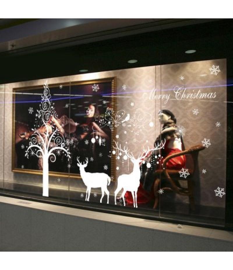 Christmas Deer DIY Window Decoration Chriatmas Wall Stickers