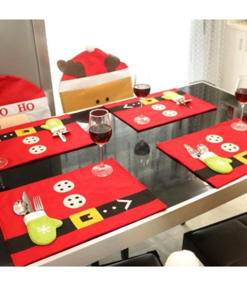 10PCS Christmas Dinner Napkin Table Cloth