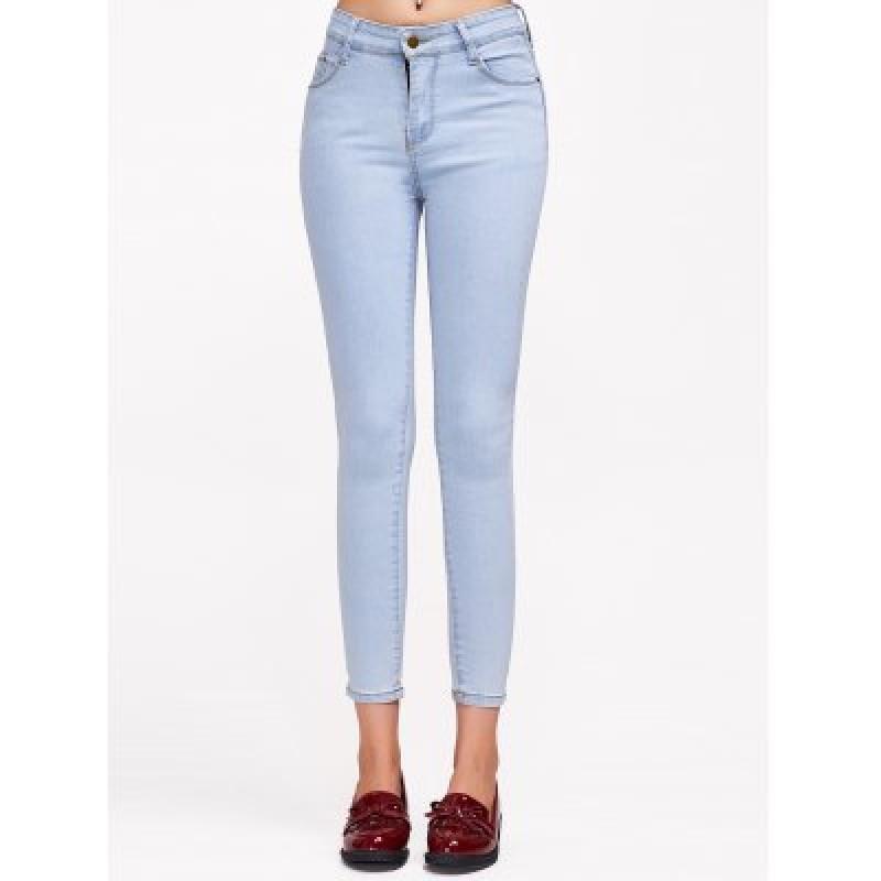 Stretchy Pocket Design Jeans