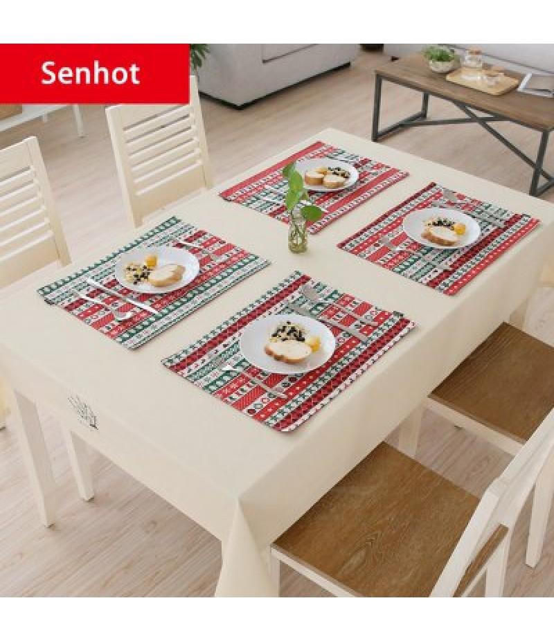 Senhot Christmas Dinner Napkin Table Cloth