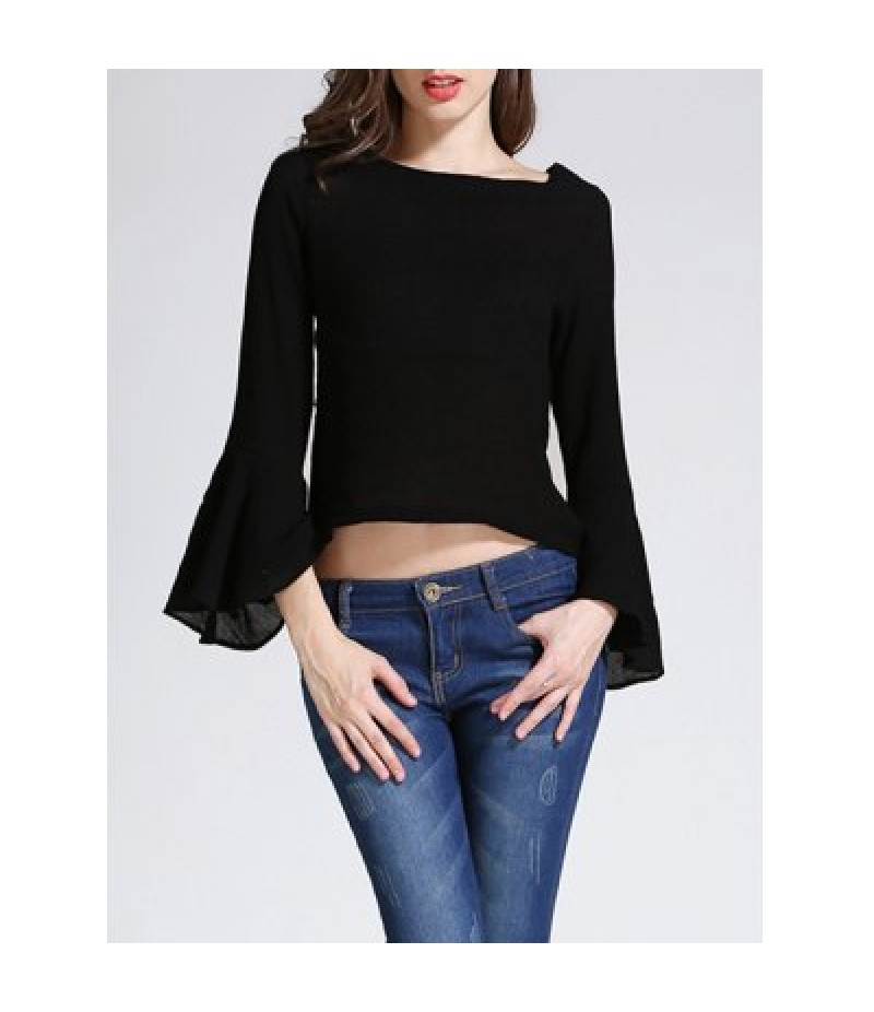 Bell Sleeve Cropped Blouse