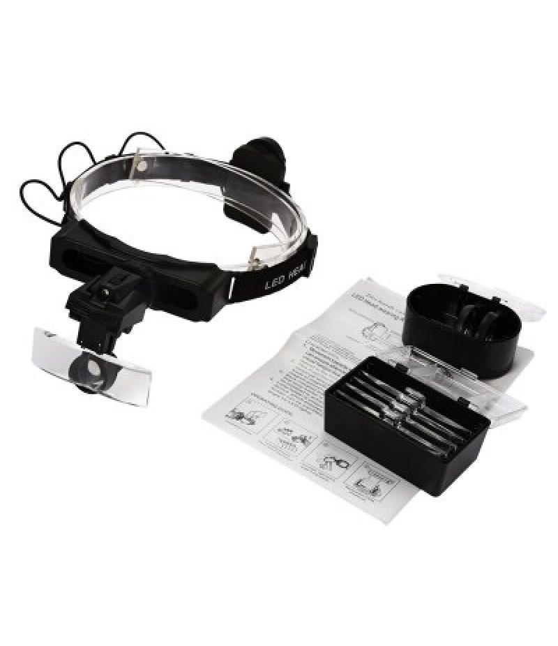 Headband LED Light Magnifying Glass for Reading / Repairing
