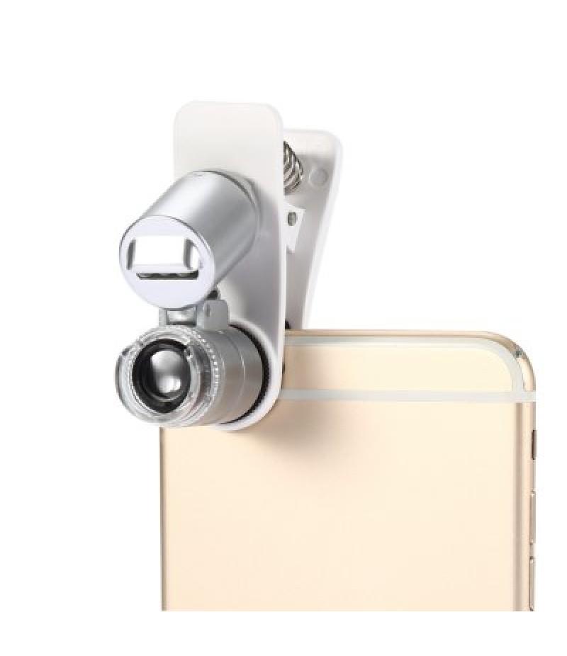 Mini 60X Universal Clip Microscope Magnifier for Mobile Phone