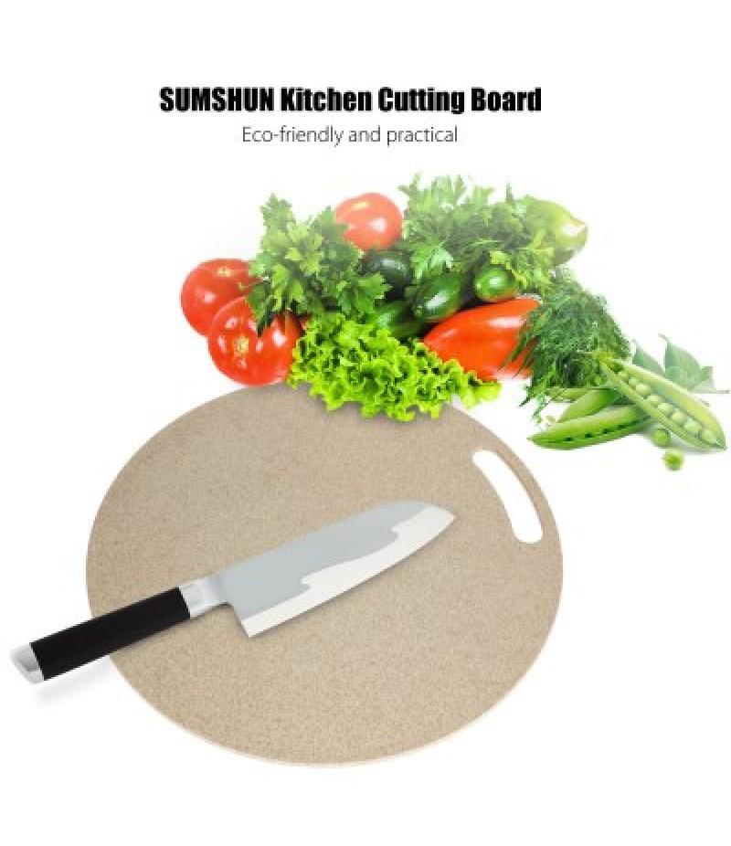 SUMSHUN Round Wheat Fiber Cutting Board