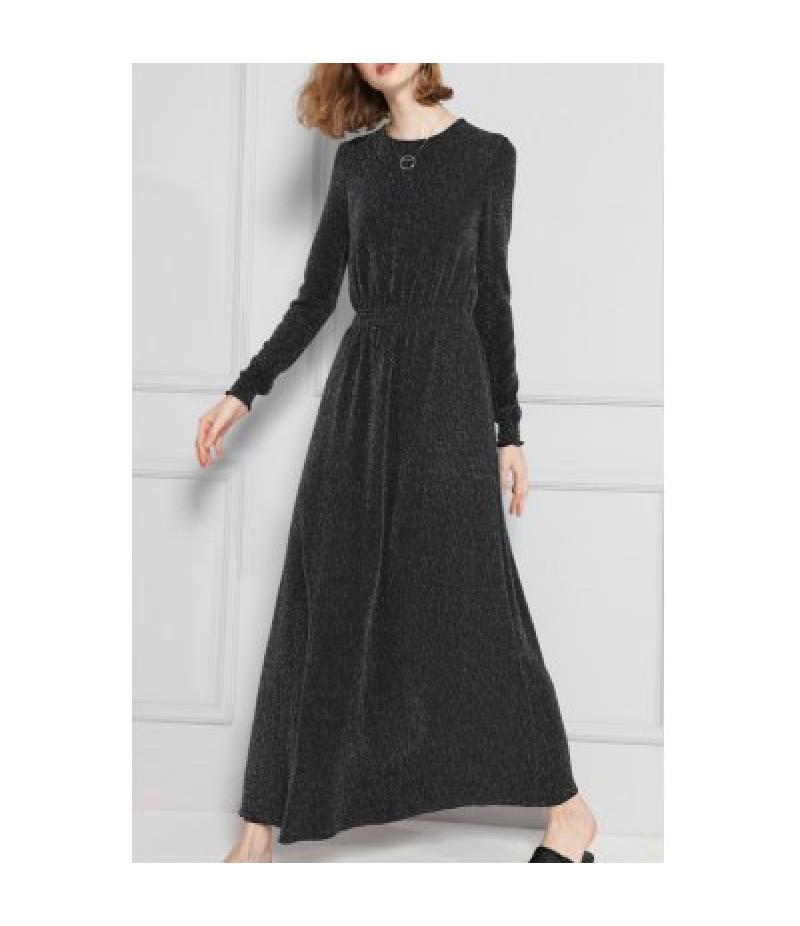 A Line Maxi Long Sleeves Dress