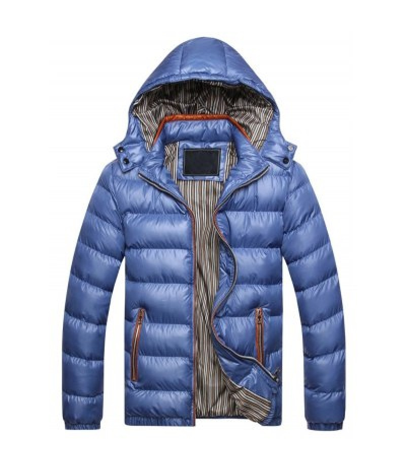 Detachable Hooded Zip Up Thicken Down Jacket
