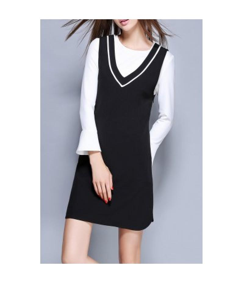 Mini Dress With Flare Sleeve T-Shirt
