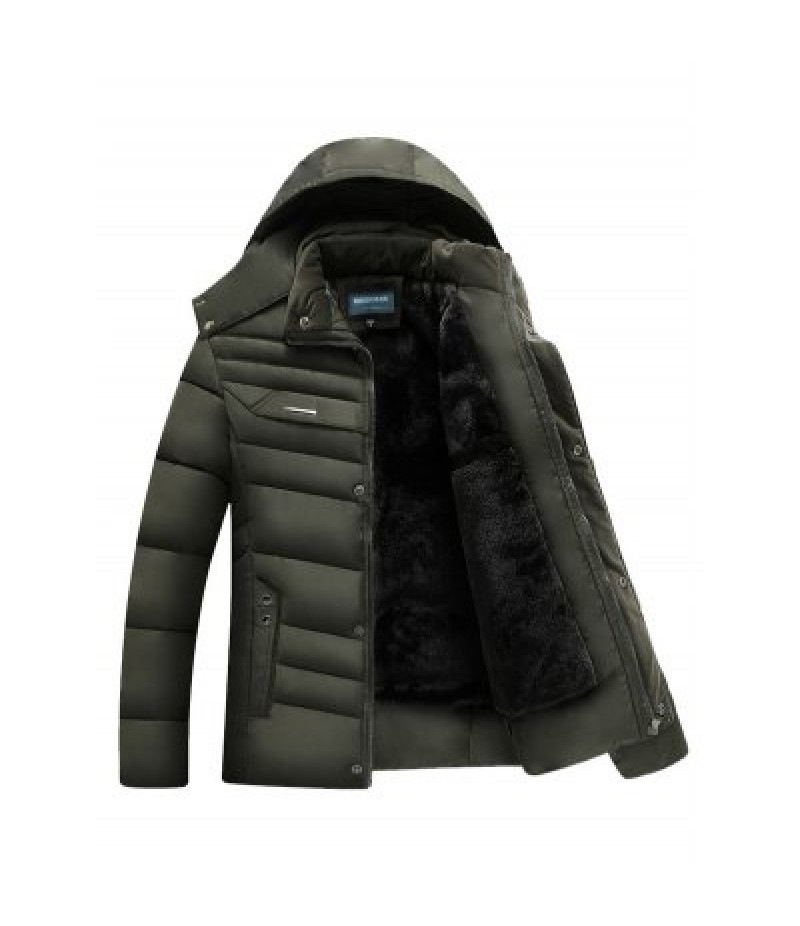 Quilted Zip Up Hooded Coat