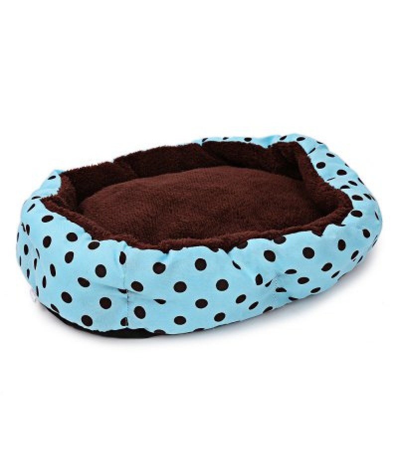 Lovely Polka Dot Soft Washable Pet Dog Cat Bed House Nest Pad