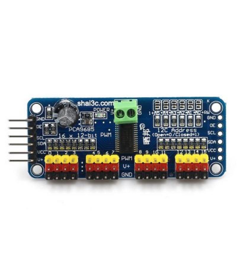 16 Channel PWM Servo Motor Controller DIY for Arduino