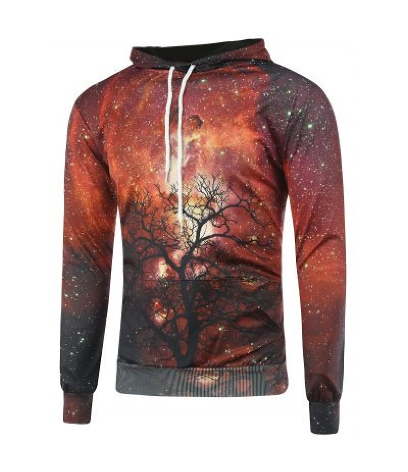 3D Galaxy Tree Branch Hoodie