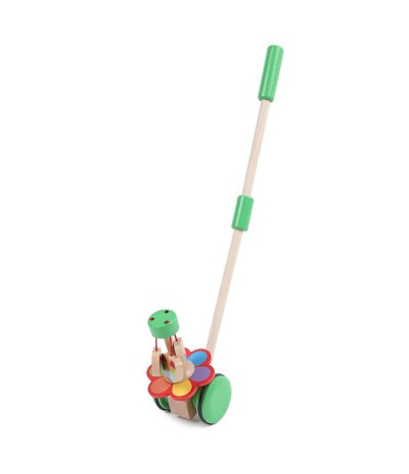 Toddler Wooden Walker Early Educational Hand Push Toy