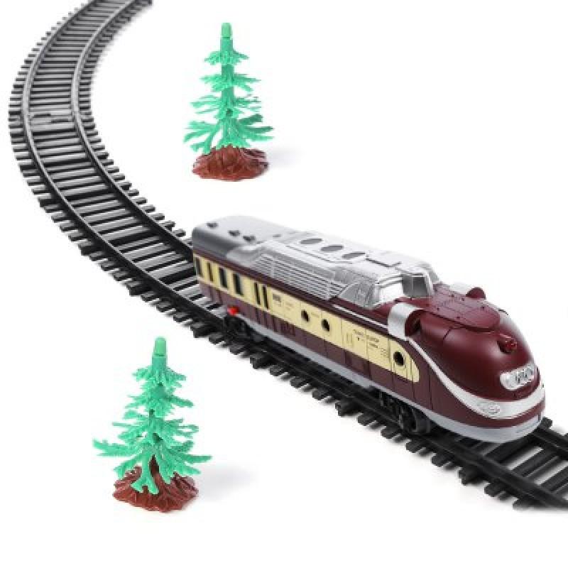 Children DIY Electric Rail Car Educational Toy