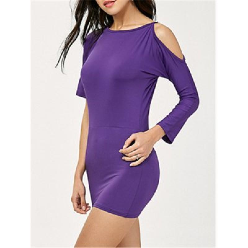Cold Shoulder Bodycon Mini Dress