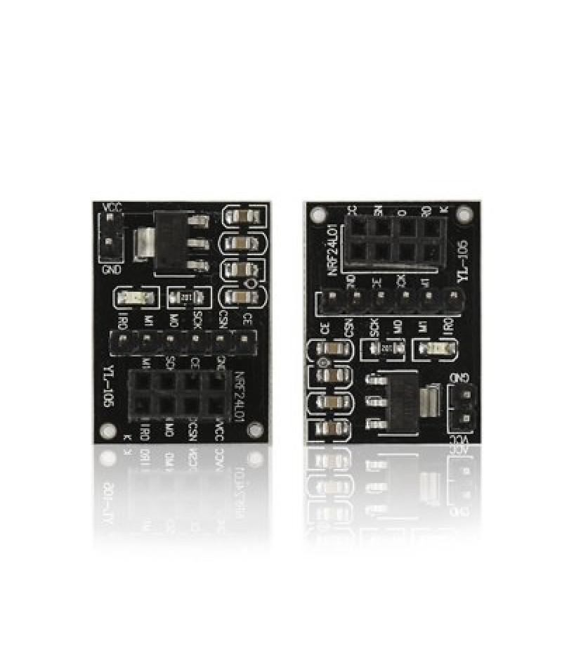 2PCS NRF24L01 + Wireless Module Socket Adapter Plate Board