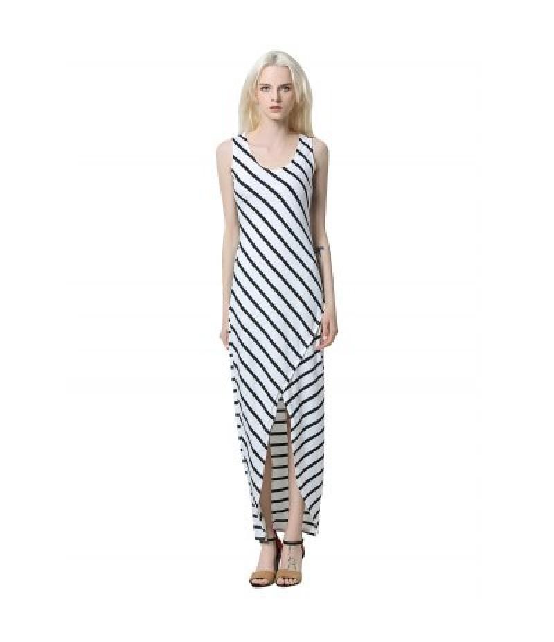 Anomalous Striped Long Dress for Women