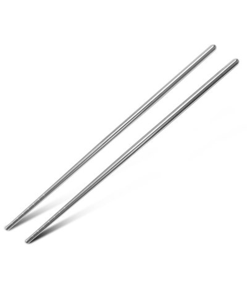 5 Pairs Stainless Steel Chopsticks