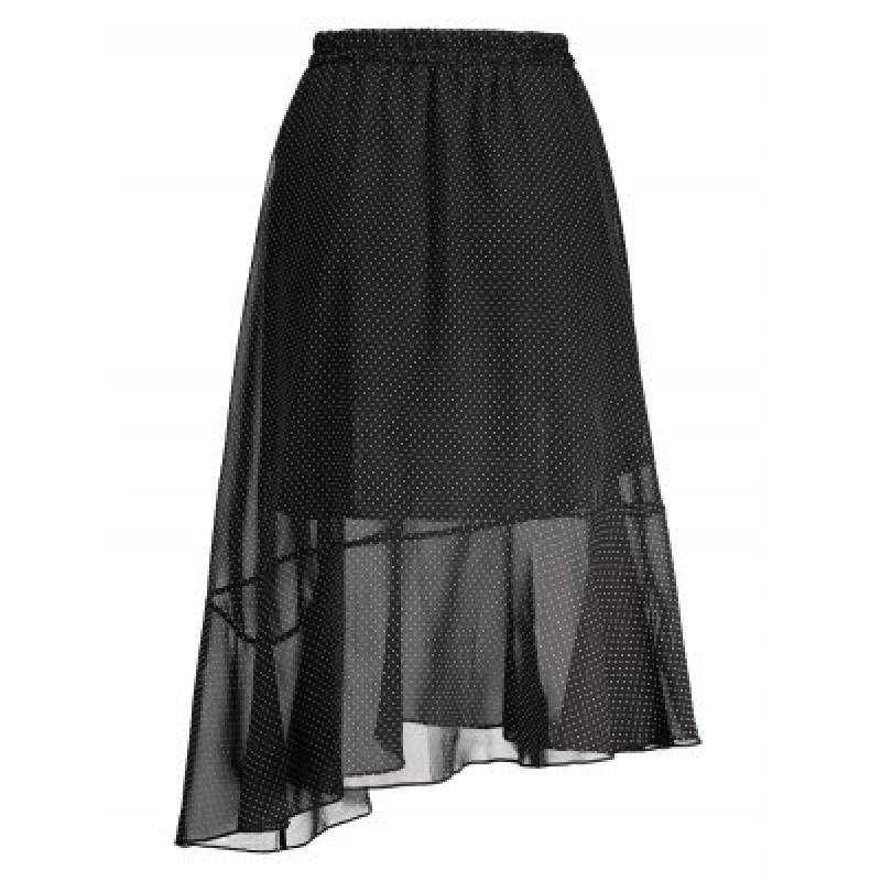 Polka Dot High Waist Midi Skirt