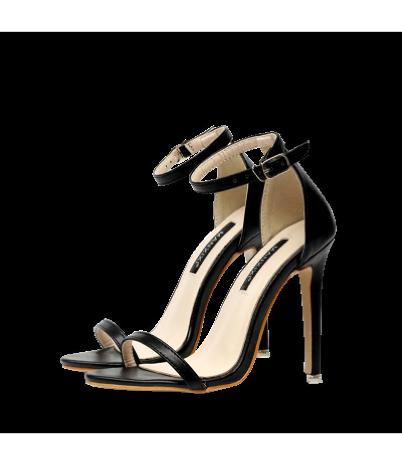 Ankle Strap Mini Heel Sandals