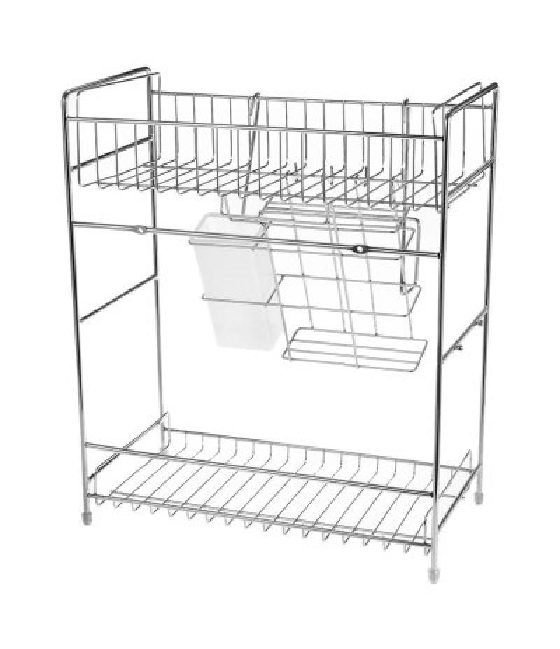 2-tier Stainless Steel Kitchen Utensil Rack