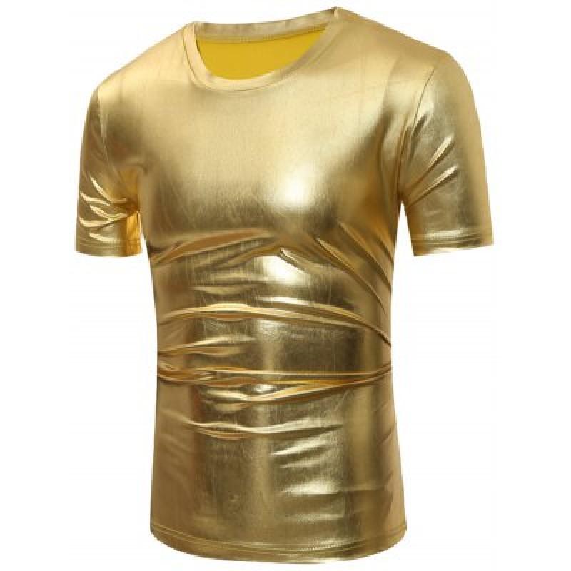 Short Sleeve Metallic T-Shirt