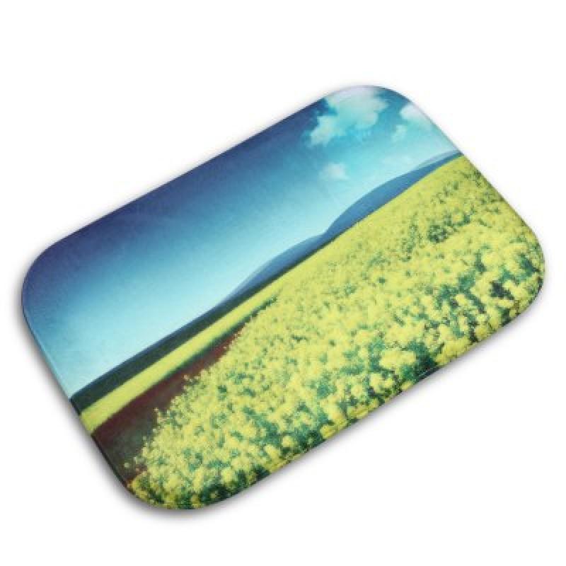 Rape Flower Flannel Doormat Rug Mat
