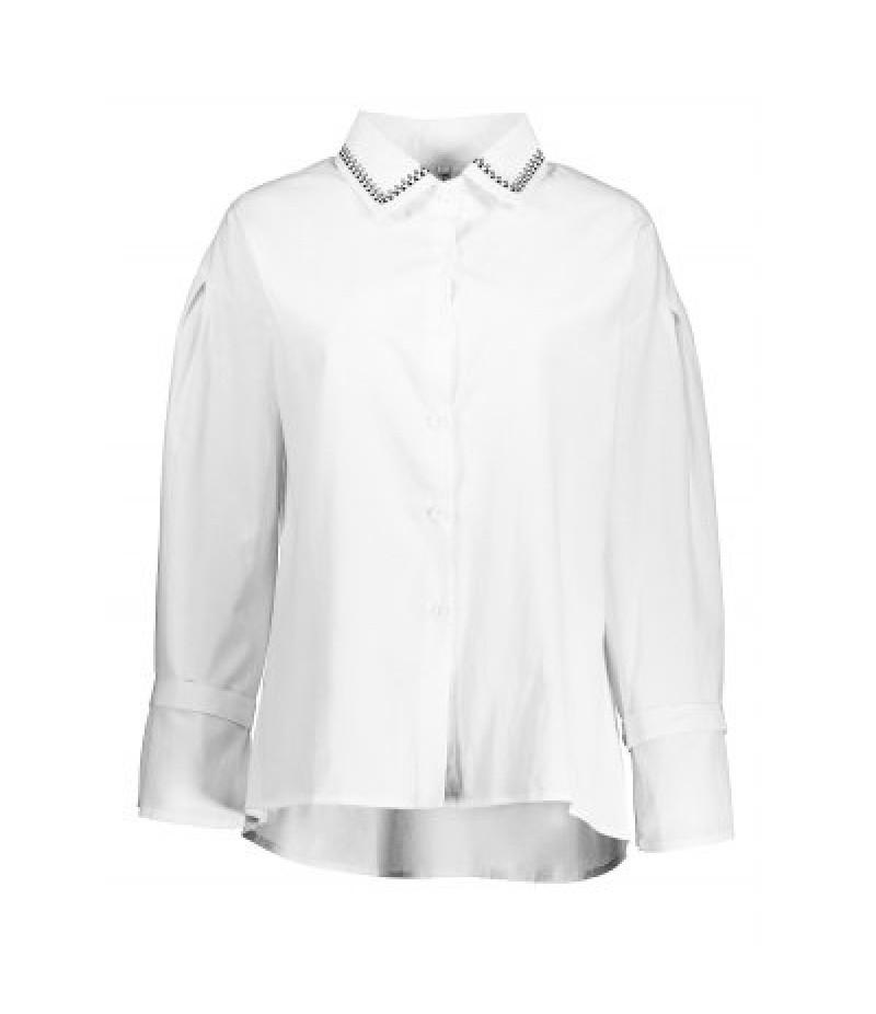 Asymmetric Bell Sleeve Shirt