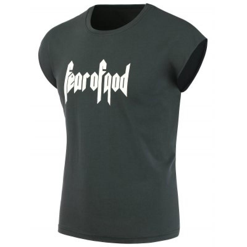 Printed Sleeveless Graphic T Shirt
