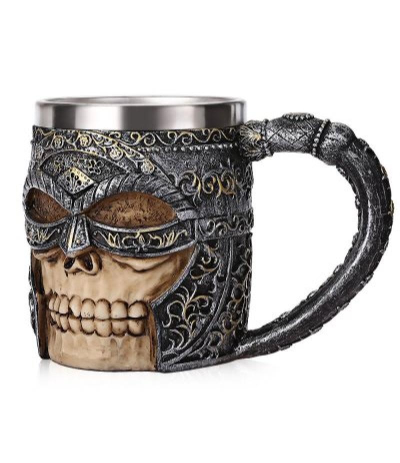 Skull Viking Warrior Relief Mug