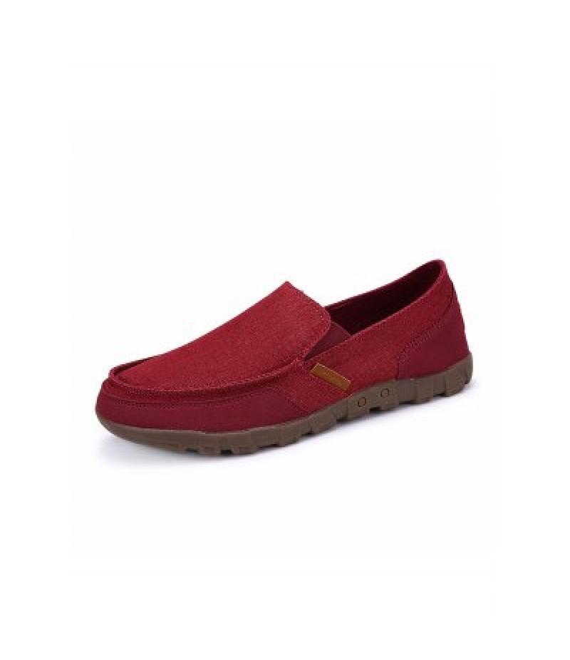 1029 Men Breathable Canvas Shoes