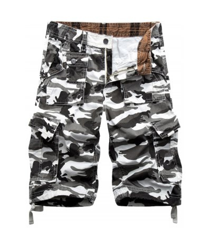 Camo Print Military Cargo Shorts