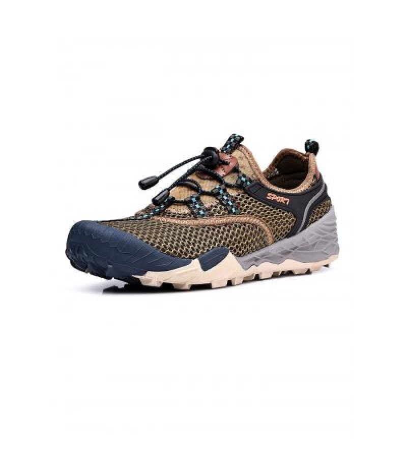 Air Mesh Drawstring Men Hiking Shoes