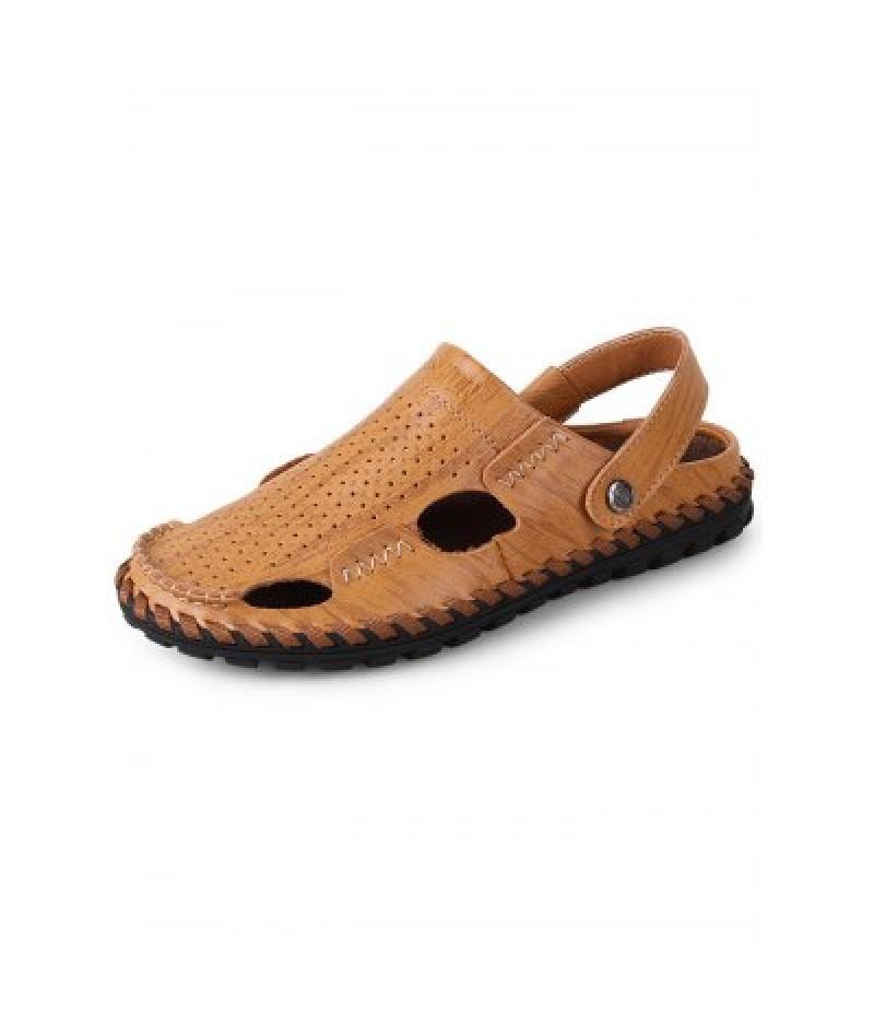 Genuine Leather Summer Fisherman Sandals
