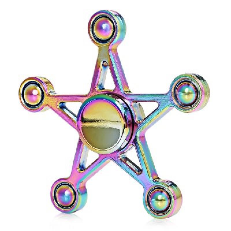 Five Star Rainbow Hand Fidget Spinner ADHD Focus Toy