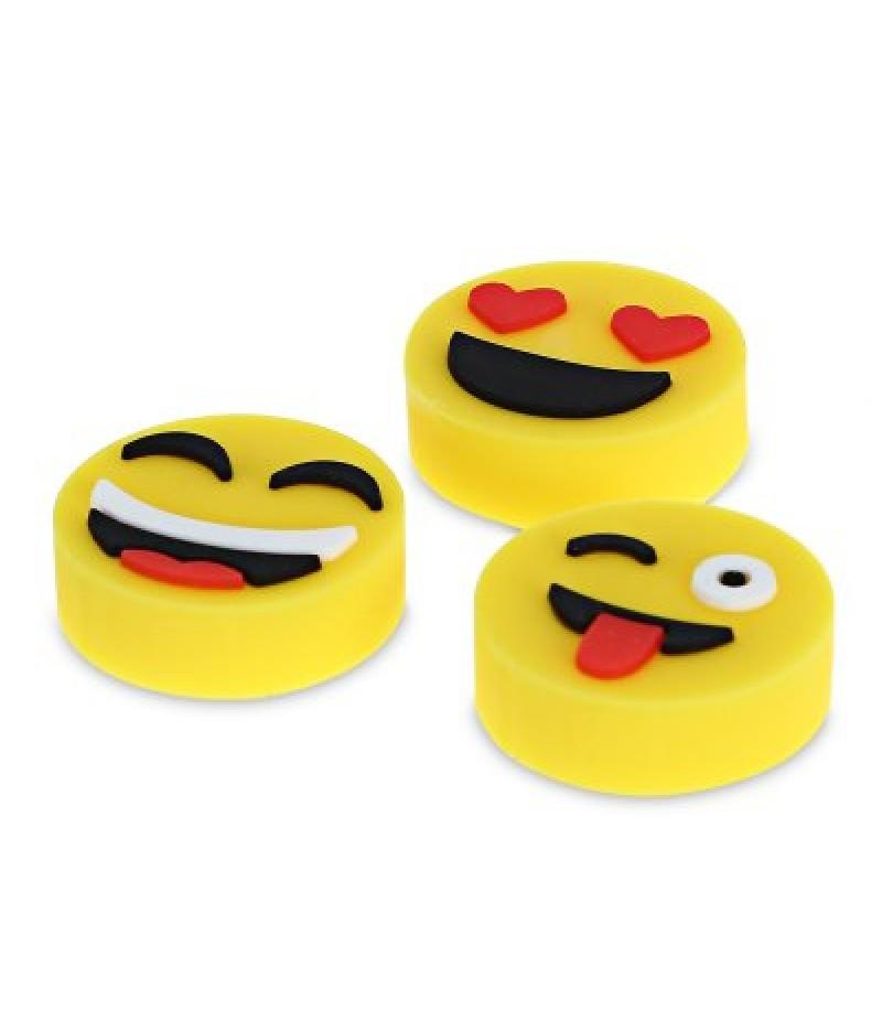 22mm Rubber Emoji for DIY Fidget Spinner 3pcs