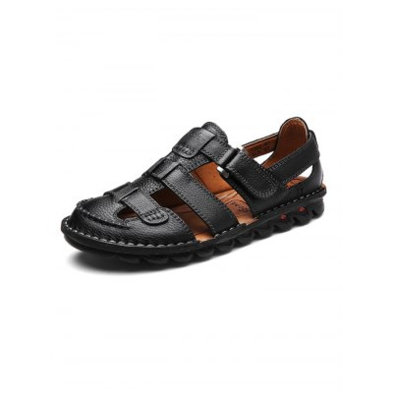 Business-casual Men Leather Sandals