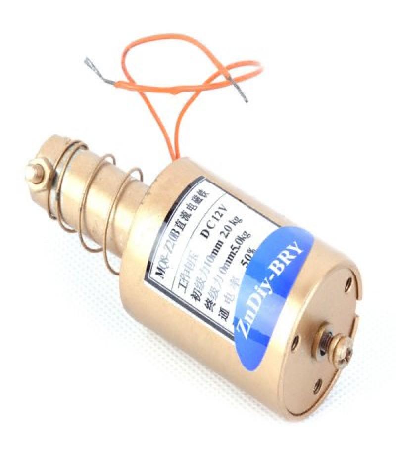 5.0kg 12V End Force Tubular Electric Solenoid Holding Electromagnet