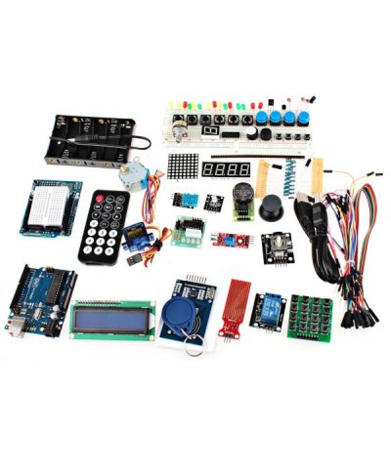 XDRduino UNO R3 Board RFID Stepper Motor Development Board Starter Kit with Basic Component Pac