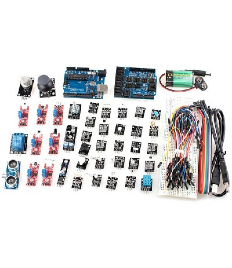 XD05 Arduino Compatible DIY Arduino UNO R3 Sensor Expansion Board V4 40 Sensing Modules