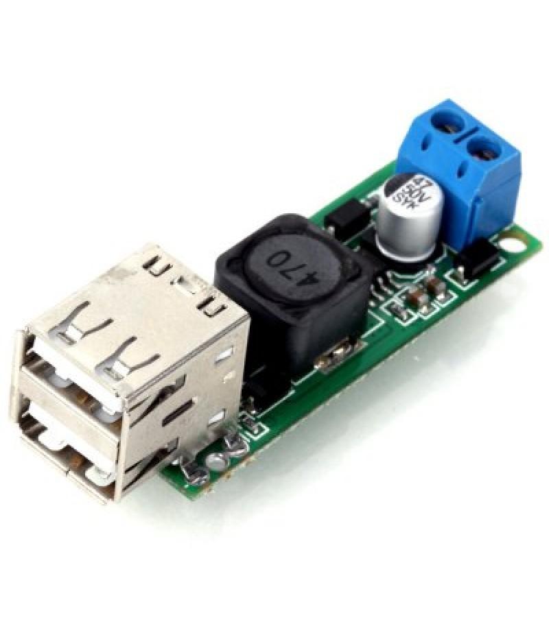 DIY DC 6  -  35V to 5V 3A Double USB Voltage Step Down Regulator Module for Automobile Motorcyc